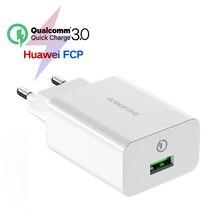 18 Вт Быстрая зарядка 3,0 быстрое зарядное устройство для мобильного телефона ЕС вилка настенное USB зарядное устройство адаптер для iPhone samsung huawei Xiaomi QC3.0