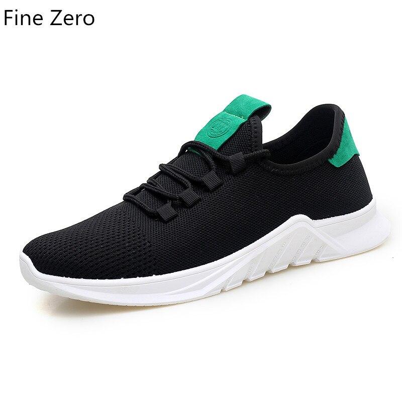 Causal Hombres Otoño Ligero Primavera Tenis Masculino Estudiante blanco up gris Zapatos Negro Hombre Zapatillas Malla Lace Adulto Calzado Transpirable wrr1pxX