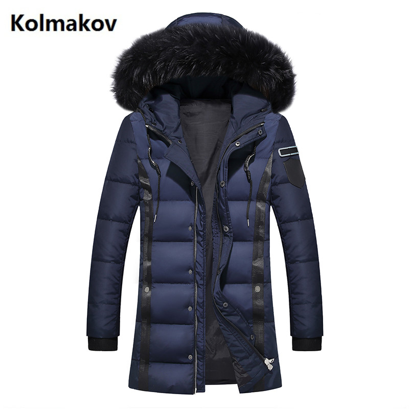 2016 winter new style mens fox collars leisure fashion 80% White duck down Down jacket Mens trench coat jackets Down Coats