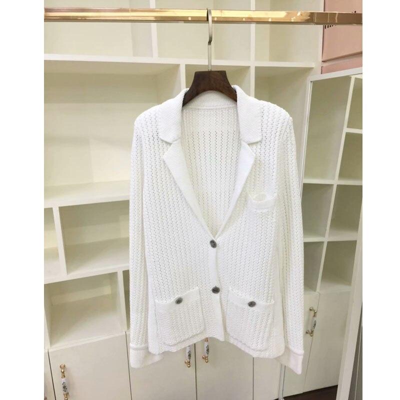 Automne Blouson Mode Revers Printemps Cardigan Longues Tricot 2019 À 7 Manteau En Manches Femmes Pour Tricoté 3 As Blanc Femme Picture De fxgBqnt6Ww