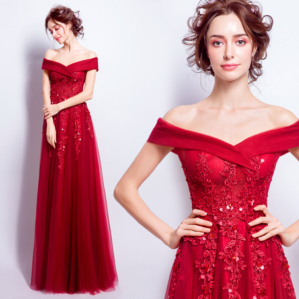 2017 new arrival stock maternity plus size bridal gown evening dress dark red lace sweetheart party engagement long hot 6006