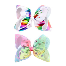7 Graffiti Ribbon JoJo Bow Hair Clips For Gir