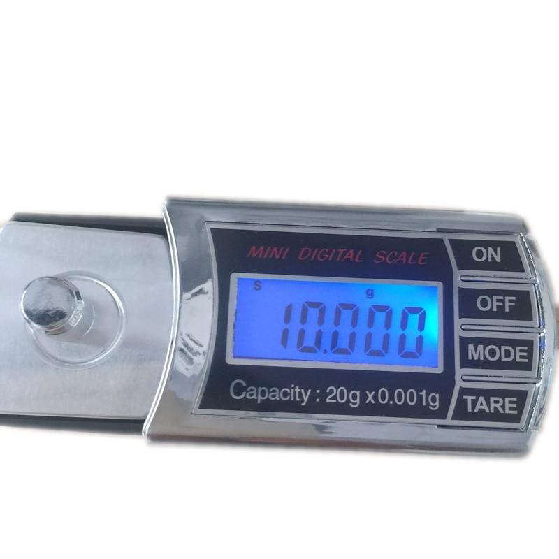 20g 0,001g LCD Cyfrowy miligram Gramowa skala kieszonkowa Mini - Przyrządy pomiarowe - Zdjęcie 2