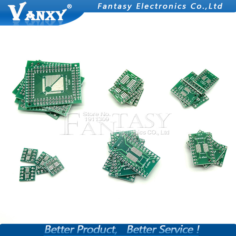 SMD SOP8//10//14//16//20//24//28 to DIP Adapter PCB Board Universal Converter Plate