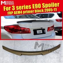 For BMW E90 M4 Style FRP Unpainted Trunk Spoiler Wing 3 Series Sedan 318i 320i 323i 325i 328i 335i Add on Look Rear Wings 05-11 16 320i 318i