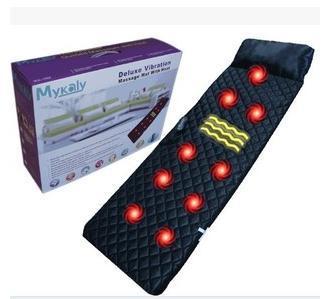 ФОТО The new massage cushion heating body massager massage pillow vibration massage mattress nine head vibration