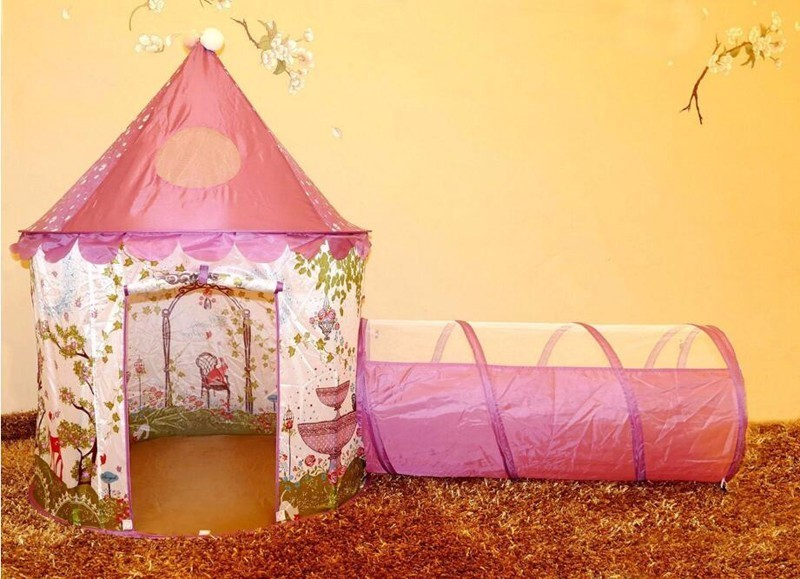 Protable Children Toy Tents Baby Princess Castle Play Tent with Tunnel and Pink Girls Play house Fairy Game Kids Ball Pool-in Toy Tents from Toys u0026 Hobbies ... & Protable Children Toy Tents Baby Princess Castle Play Tent with ...