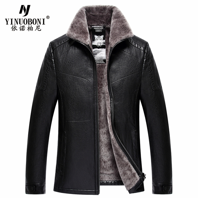 Top Quality Men Geniune Sheepskin Jacket Male Wool Warm Jacket Men ItalianDesign Brand Coat Winter Cashmere Coat For Men XXXL 2
