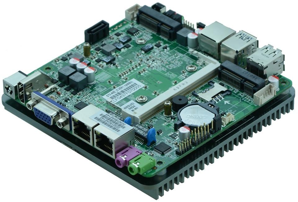 Fanless dual Gigabit Ethernet Intel Haswell-U i5 4200U i5 4210Y CPU nano motherboard for intel nuc pc 12V power supply цена