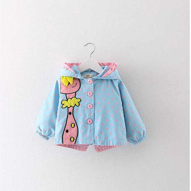 2017 primavera do bebê da menina roupas esportivas roupa com capuz jaqueta corta-vento casacos para casacos jaqueta de roupas de bebê meninas marca solto