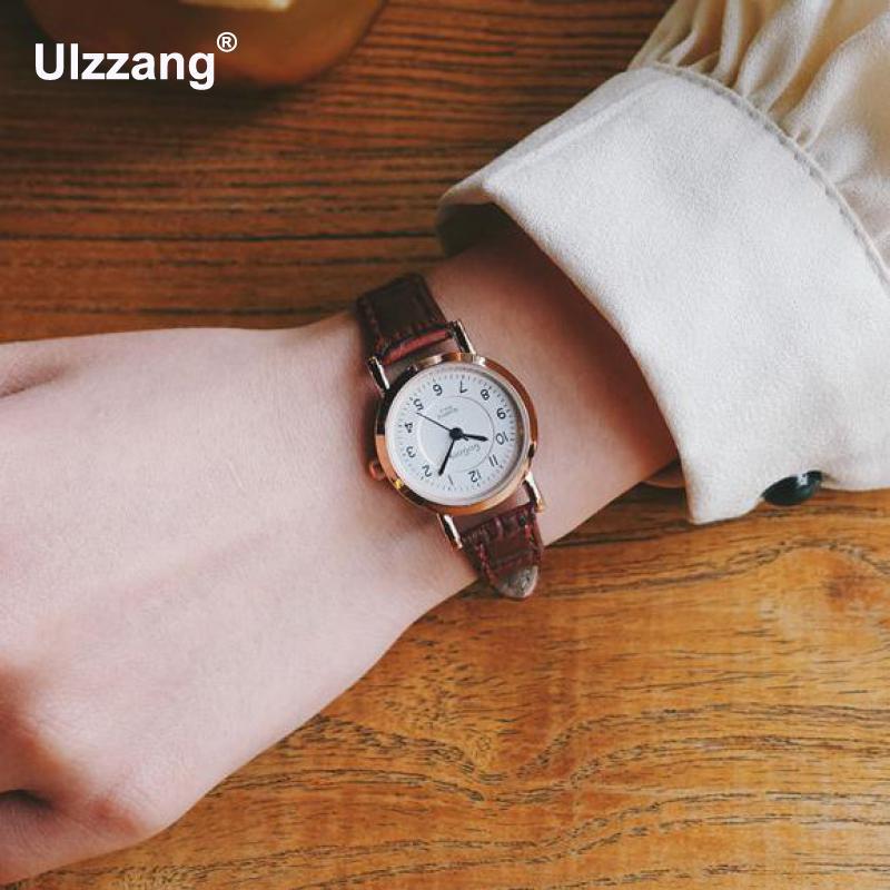 Luxury Black Red Brown Quartz Women Watch Simple Small Round Dial Watch Classic Ladies Watch Quartz Watch Relojes Mujer 2018