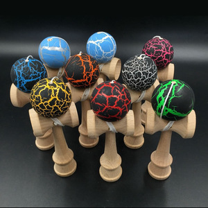 Image 2 - Beech Kendama Toys 12CM Skillful Juggling Ball Game for Children Stress Release Fidget Toys Sword Ball Kids Birthday Gifts