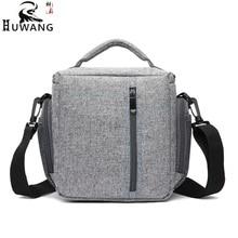 Huwang 7514  new canvas camera bag shoulder diagonal digital package outdoor waterproof