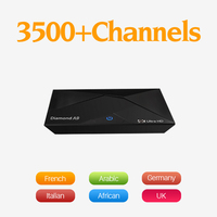 Dalletektv A9 Android 6.0 Smart TV Box S912 Octa Core 4K H.265 Set-top Box 2G 16G 3500 Subtv Channels Sweden Arabic French IPTV