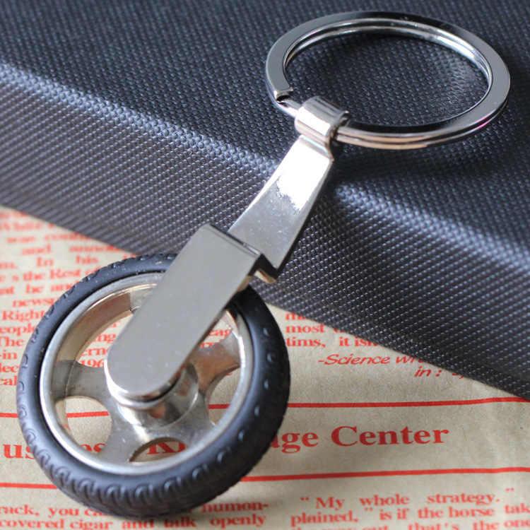 Band model sleutelhanger sleutelhanger wielnaaf sleutelhanger sleutelhouder hoge kwaliteit portachiavi chaveiro llaveros hombre