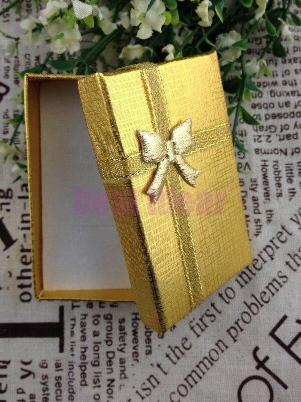 Wholesale 12pcs/Lot Romantic Gold Jewelry Box Necklace/Earrings/Ring Box Gift Box Free Shipping