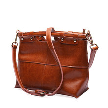2017 New Fashion Quality Cow Leather women's bag Vintage Ladies handbag original female shoulder Messenger bags Handbags