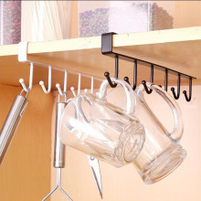 Кухонный стеллаж для хранения, подвесной крючок для шкафа, вешалка, органайзер для хранения, держатель для шкафа, стеллаж для хранения, держатель для полки, вязанный крючком