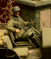 Brinquedos resina 35028-Waffen SS Jeep motorista Ardenas 1944 Frete grátis