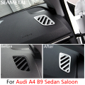 For Audi A4 B9 Sedan Saloon 2016 2017 Car Dashboard Outlet Frame Stickers Internal Decoration Auto Accessories Car-styling