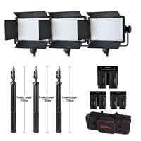 Godox Professional LED Video Light LED500C Changeable Version 3300K 5600K + battery+Dual Charger +2M light stand