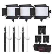 Godox Профессиональный светодиодный свет led500c Сменные версии 3300 К-5600 К + аккумулятор + двойной Зарядное устройство + 2 м Свет Стенд