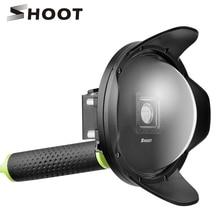 SHOOT 6 inch Anti exposure Dome Port for Xiaomi Yi 4K 4K Lite font b Action