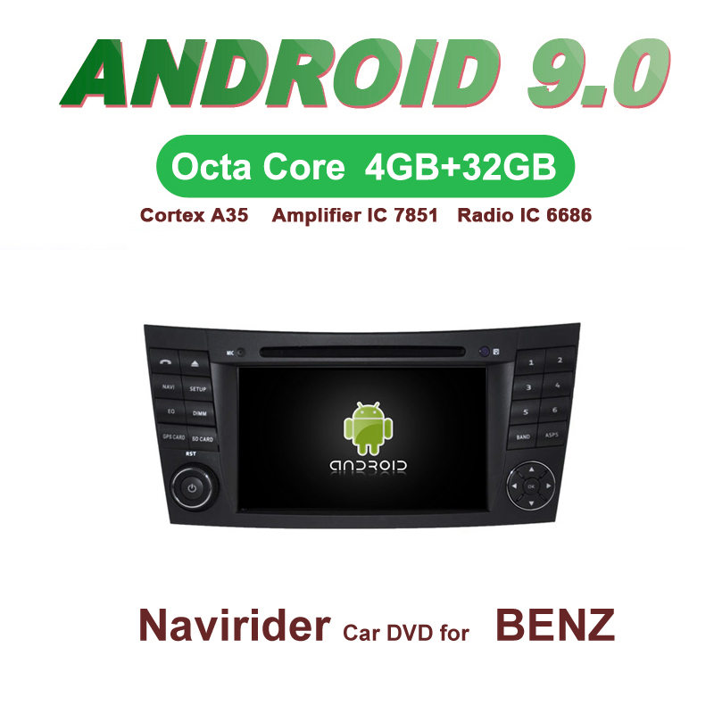 Navirider GPS Android 9.0 bluetooth stereo 4-Core 8-Core car DVD player for BENZ E-CLASS W211 G-CLASS W463 <font><b>CLS</b></font> <font><b>W219</b></font> <font><b>accessories</b></font> image