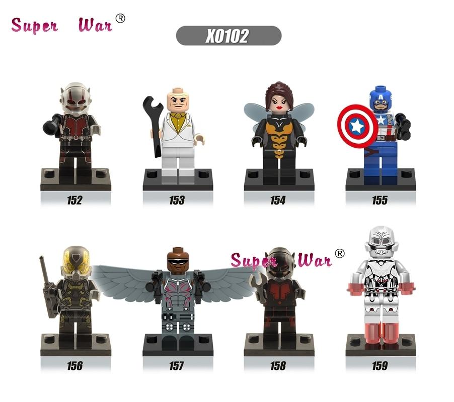 8pcs star wars super heroes marvel avengers ANT MAN Yellowjacket Wasp building blocks model bricks toys for children