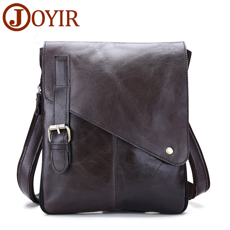 JOYIR Vintage Fashion Mens Leather Bag Brand Casual Business Mens Bag High Quality New Mens Travel Crossbody For Man Handbags new high quality vintage casual 100