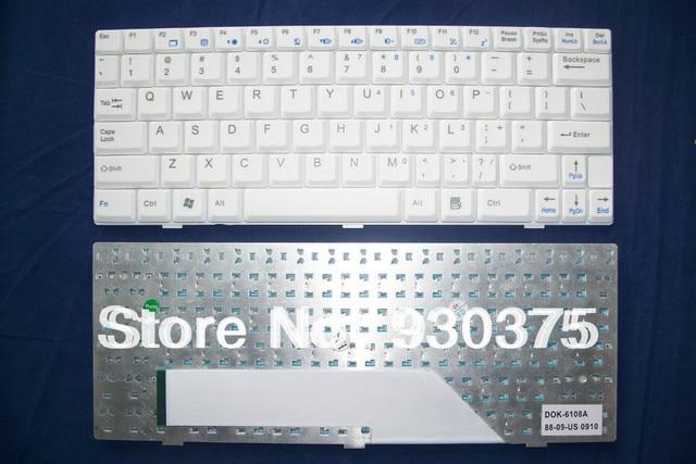 Genuine Original New For MSI Wind U105 U110 U101B U120 U100 U101 U90 U101C 4489 Keyboard TECLADO US English White Free Shipping