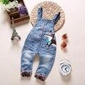 Guardapolvos Del Bebé de Bebé de Algodón de alta Calidad Pantalones Largos Niñas niños Ropa Jeans Mono Mamelucos Niño Ropa AA0790