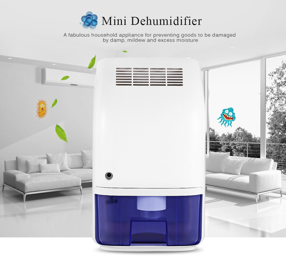 Invitop T8 Electric Mini Home Dehumidifier Air Dryer Moisture Absorber with 700ML Water Tank for Home Bedroom Kitchen Office Car small current motor protector for small home appliances like air dryer dehumidifier fan and exhaust fan