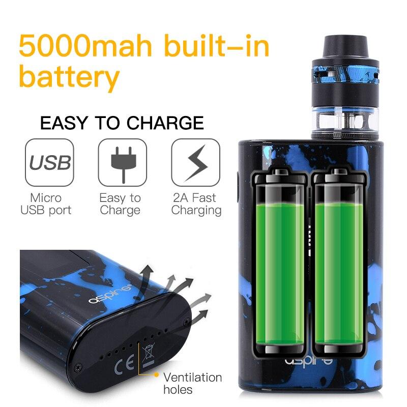 Cigarette électronique Aspire Typhon Revvo 100 W Vaporisateur Kit E Cig Dispositif avec 5000 mah batterie intégrée et 2 ML Revvo atomiseur Réservoir - 3