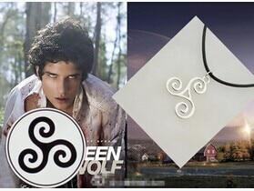 Fashion Jewelry Silver Charm Teen Wolf Triskele Necklace Triskelion necklace Allison Argent necklace