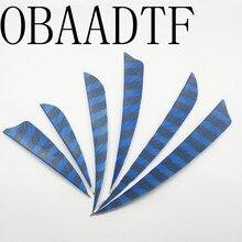 100pcs 3 4 5 Water Drop Shield Cut Shape Striped Sky Blue  Archery Hunting archery accessories Arrow Feather Bow