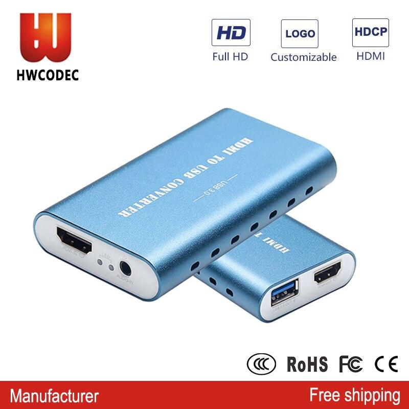 HWCODEC usb 3.0 jeu Streaming en direct carte de Capture HDMI FHD 1080 P dispositif de capture vidéo usb3.0 carte de capture pc