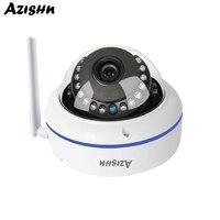 AZISHN HD 720P/960P/1080P Wi Fi Vandal Dome IP Security Camera Outdoor IP67 Weatherproof Surveillance System Network Cam CamHi