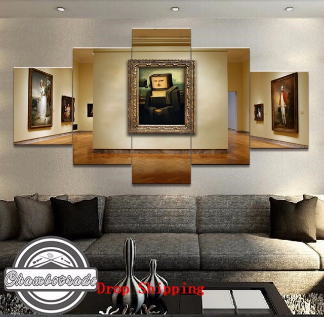 5 Pieces Frame Modern Hd Print Painting Canvas Artwork Minecraft Game On Wall Art Home