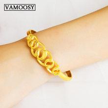 Женские браслеты золотистого цвета pulsera masculina 24 к свадебные