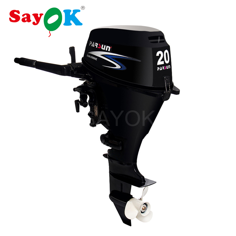 Water cooled 20hp 4 stroke outboard motor engine for fishing boats/ tiller control / manual start / short shaft