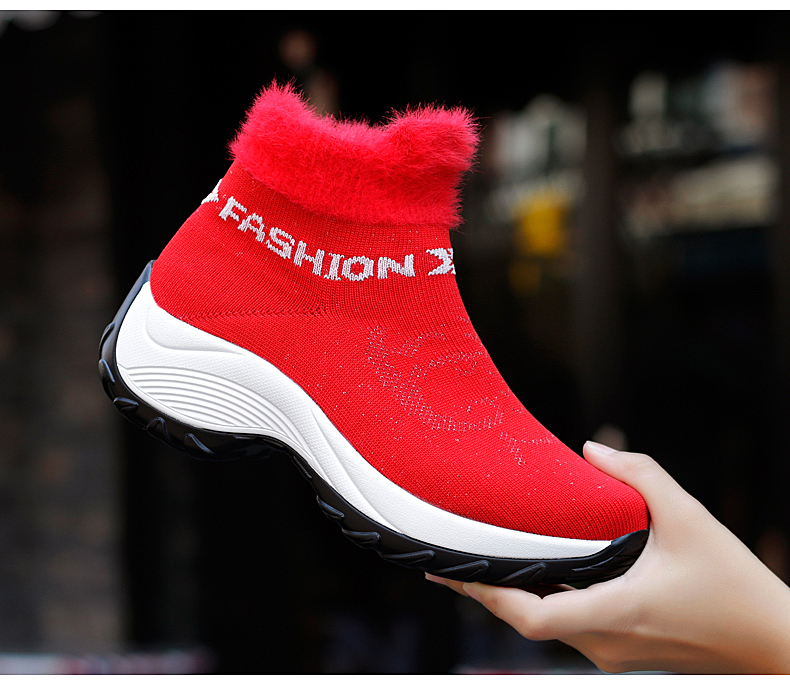 STS BRAND 2019 New Winter Ankle Boots Women Snow Boots Warm Plush Platform Sneakers Breathable Mesh Sneakers Travel Casual Shoes (18)