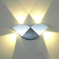 현대 높은 전원 4W 나비 LED 벽 Sconce 빛 위로/아래로 Led 벽 램프 정착물 램프 벽 마운트 실내 장식 조명