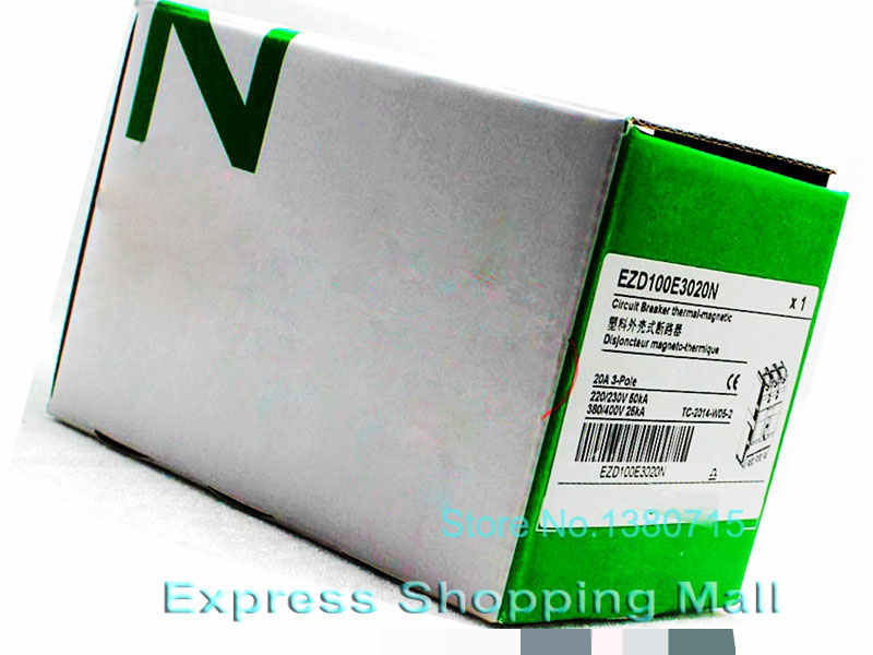 Новый EZD100E 3Р 20А EZD100E3020N Пластиковые Выключатель