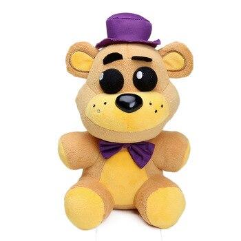 25cm Freddy Fazbear Plush Toys Golden Bear Nightmare Cupcake Foxy Balloon Boy Clown Stuffed Dolls 4
