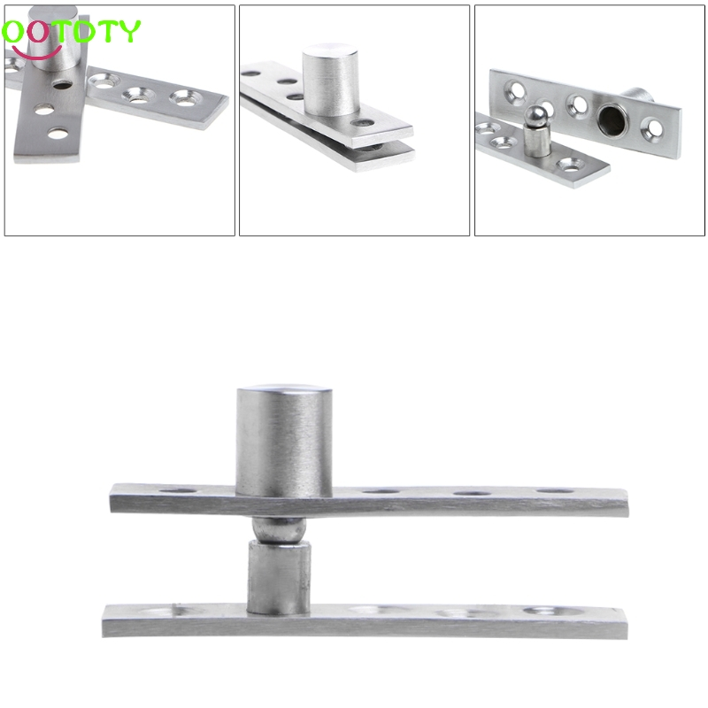 Up Down Shaft Stainless Steel Door Rotating Hinge Pivot 75/100mm 360 Degree  828 Promotion 2pcs set stainless steel 90 degree self closing cabinet closet door hinges home roomfurniture hardware accessories supply