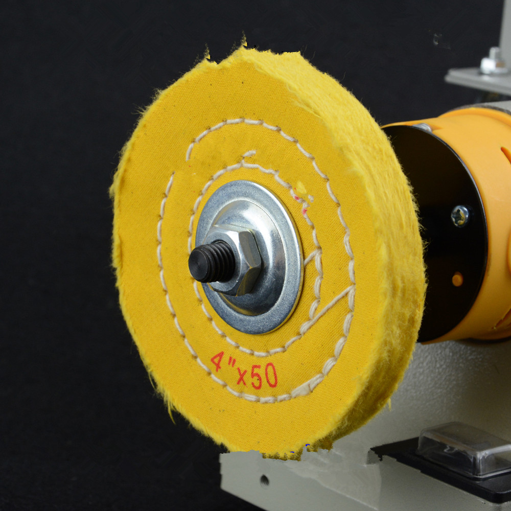 3 шт. 4 ограночного 4*50 желтый абразивный диск для Bench шлифовальная 10 мм Внутреннее отверстие для металлические украшения алюминий дерево