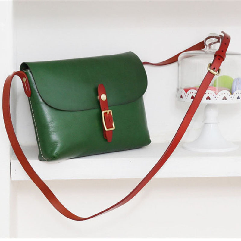 Joyir 2018 new Japanese style Candy color women shoulder bag Vegetable tanned skin handwork contrast color messenger bag women  Joyir 2018 new Japanese style Candy color women shoulder bag Vegetable tanned skin handwork contrast color messenger bag women