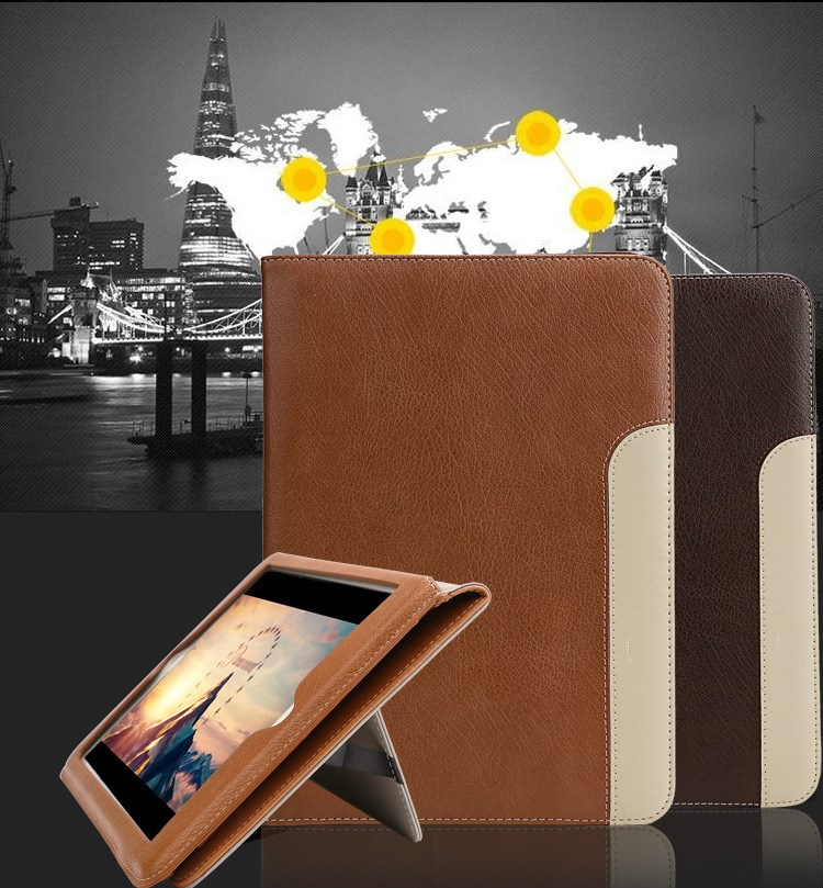 GrassRoot for New Ipad pro 12.9 inch 2017 Air 1/2 Cases Luxury Top Crafted Shockproof Automatic Wake Sleep Smart Leather Cover