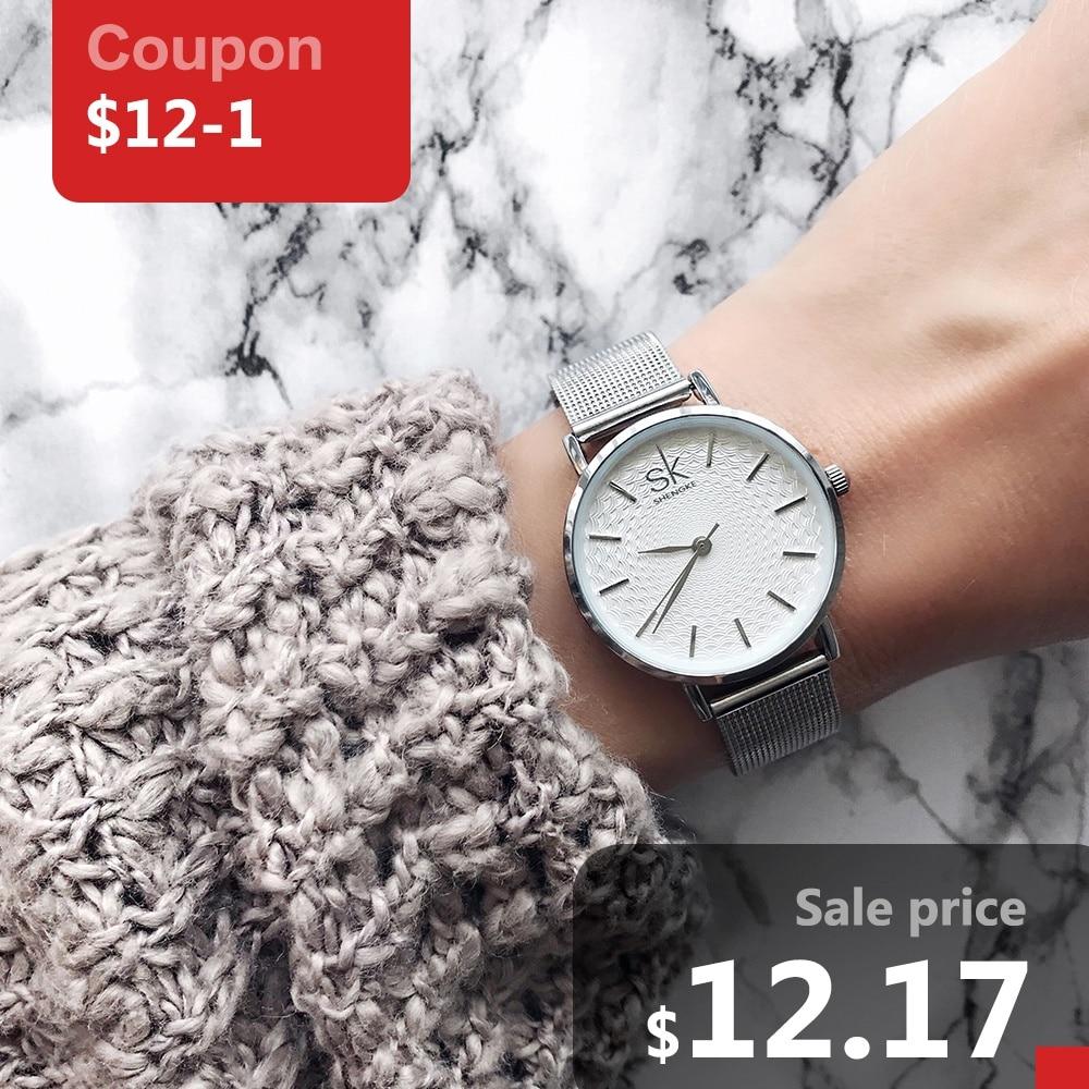 2017 SK New Fashion Women Golden Wrist Watches MILAN Street clock Snap Luxury Fe
